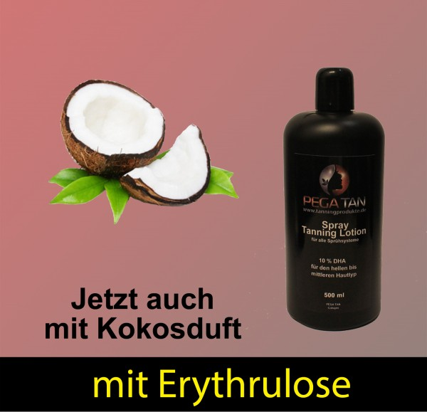 Direktbräuner Lotion mit Kokosduft und Erythrulose 10% DHA 500 ml