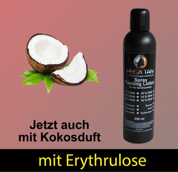 Direktbräuner Lotion mit Kokosduft und Erythrulose 14% DHA 200 ml