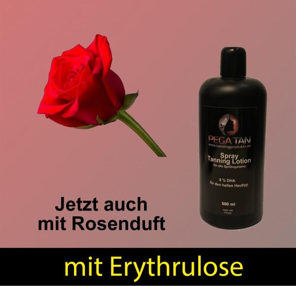 Direktbräuner Lotion mit Rosenduft und Erythrulose 8% DHA 500 ml