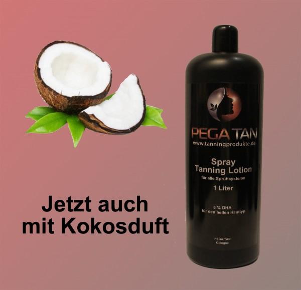 Direktbräuner Lotion mit Kokosduft 8% DHA 1000 ml