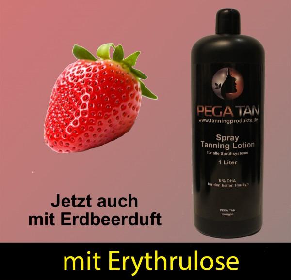Direktbräuner Lotion mit Erdbeersduft und Erythrulose 8% DHA 1000 ml