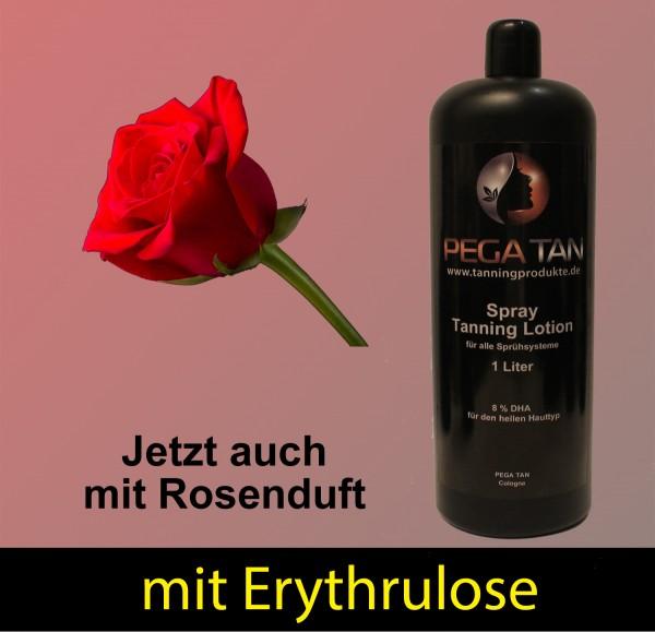 Direktbräuner Lotion mit Rosenduft und Erythrulose 8% DHA 1000 ml