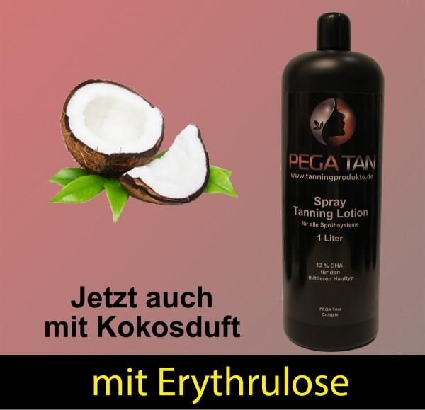 Direktbräuner Lotion mit Kokosduft und Erythrulose 12% DHA 1000 ml