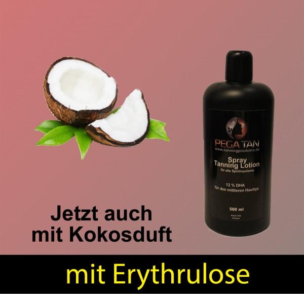 Direktbräuner Lotion mit Kokosduft und Erythrulose 12% DHA 500 ml