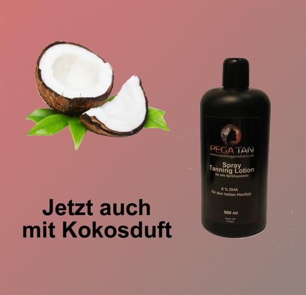 Direktbräuner Lotion mit Kokosduft 8% DHA 500 ml